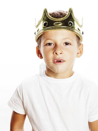little cute boy wearing crown