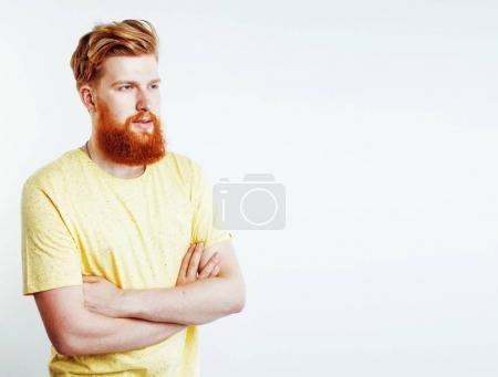 hipster ginger bearded guy
