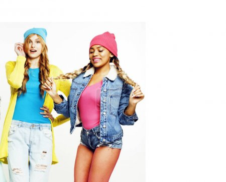 diverse nation girls group, two diverse rase teenage friends com