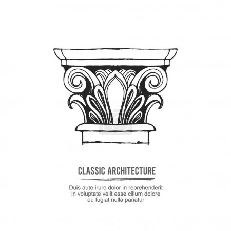 Classical architectural column