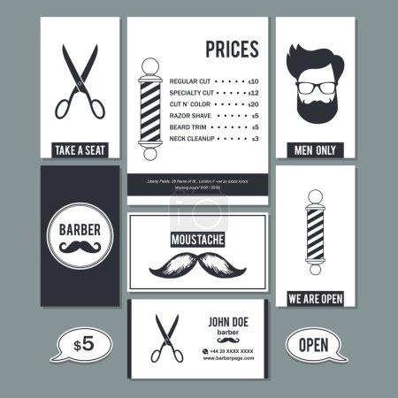 barber shop services prices design