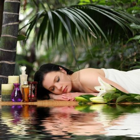 Woman Getting Spa Massage in Spa Salon
