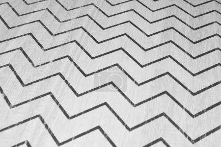 Photo pour Zigzag sur bois en texture noir et blanc dcoration - image libre de droit