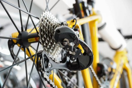 Photo for Road bike gear components / part of bicycle - Royalty Free Image