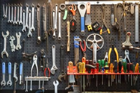 Bicycle tools background
