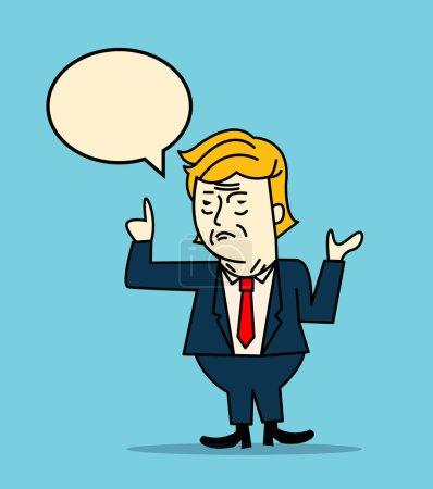 Характер портрет Дональда Трампа
