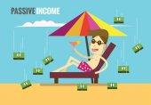 Passive income concept flat design elements vector illustration
