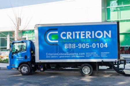 Criterion Critical Systems truck parked at the cus...
