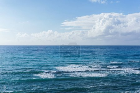 Photo for Image of blue sea and cloudy sky during day - Royalty Free Image
