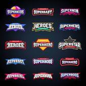 Sport emblem typography set Super logo for your t-shirt Mega logotype collection
