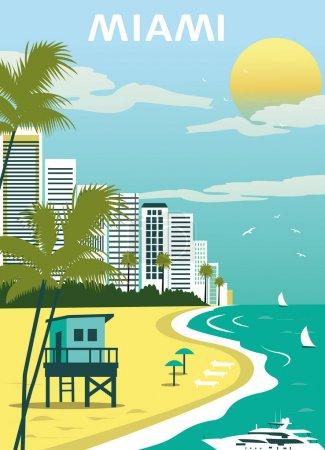 sandy beach in Miami city
