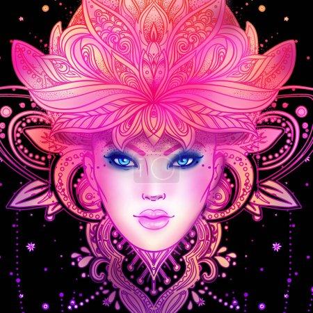 Divine Goddess. Tribal Fusion Boho Diva. Beautiful Asian divine