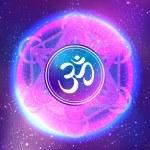 Diwali Om symbol with mandala . Round Pattern. Vin...