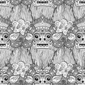 Pattern made of Barong - traditional ritual Balinese masks