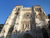 BORDEAUX, GIRONDE/FRANCE - SEPTEMBER 20 : Facade of the Cathedra