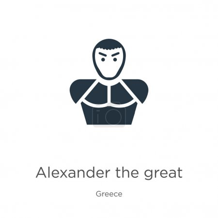Alexander the great icon vector. Trendy flat alexander the great icon from greece collection isolated on white background. Vector illustration can be used for web and mobile graphic design, logo,