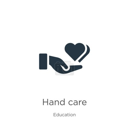 Illustration for Hand care icon vector. Trendy flat hand care icon from education collection isolated on white background. Vector illustration can be used for web and mobile graphic design, logo, eps10 - Royalty Free Image