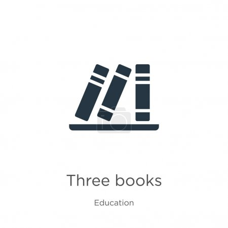 Illustration for Three books icon vector. Trendy flat three books icon from education collection isolated on white background. Vector illustration can be used for web and mobile graphic design, logo, eps10 - Royalty Free Image
