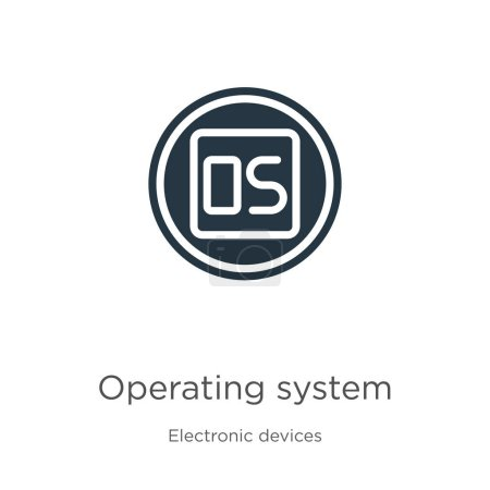 Operating system icon vector. Trendy flat operating system icon from electronic devices collection isolated on white background. Vector illustration can be used for web and mobile graphic design,