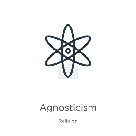 Agnosticism icon vector. Trendy flat agnosticism i...