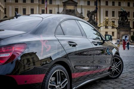Closeup of Mercedes Benz CLA