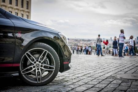 Closeup of Mercedes Benz CLA