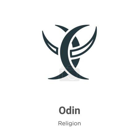 Odin glyph icon vector on white background. Flat v...