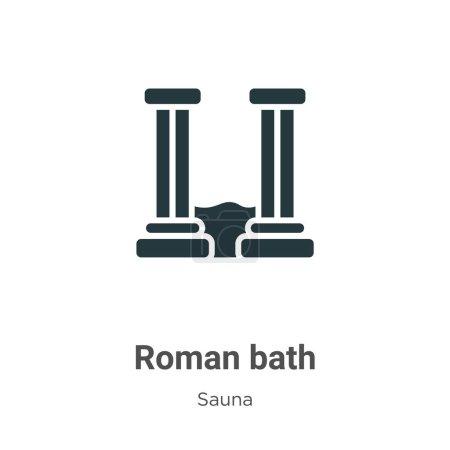 Bain romain glyphe icône vecteur sur fond blanc. Symbole emblématique de bain romain vectoriel plat de la collection sauna moderne pour la conception de concepts mobiles et d'applications Web .