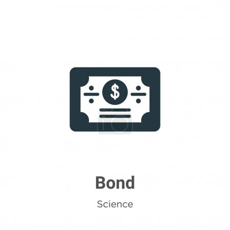 Bond glyph icon vector on white background. Flat vector bond icon symbol sign from modern science collection for mobile concept and web apps design.