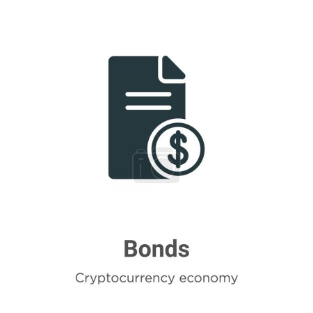 Bonds vector icon on white background. Flat vector bonds icon symbol sign from modern cryptocurrency economy and finance collection for mobile concept and web apps design.
