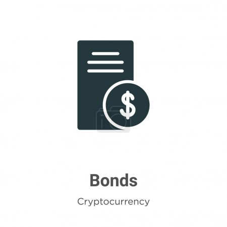Bonds vector icon on white background. Flat vector bonds icon symbol sign from modern cryptocurrency collection for mobile concept and web apps design.