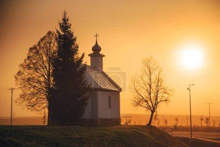 Photo pour Église au lever du soleil. Christianisme, prier concept photo - image libre de droit