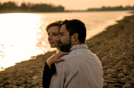 Photo for Young couple in love on the beach - Royalty Free Image