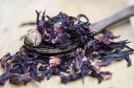 Photo for Dried rose petals in a bowl - Royalty Free Image