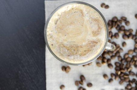 Photo pour Café latte avec glace - image libre de droit