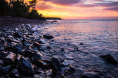 Copper Harbor Michigan Sunset Over Lake Superior