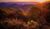 Great Smoky Mountain Scenic Autumn Sunset Landscape