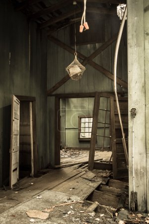 Interior Of Abandoned Home In The Great Smoky Mountains National Park