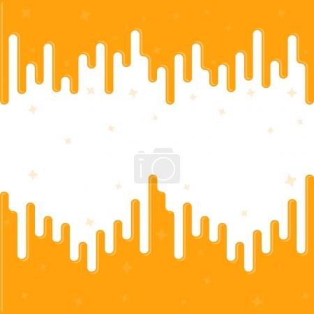 Illustration pour Dripping vectoriel, modèle pour nous - image libre de droit