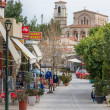 Overview of the main street of  Ancient Corinth, G...