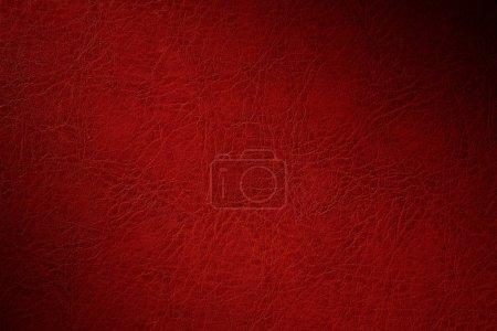 Foto de Textura del revestimiento rojo natural de cuero con la disminución de la humedad - Imagen libre de derechos