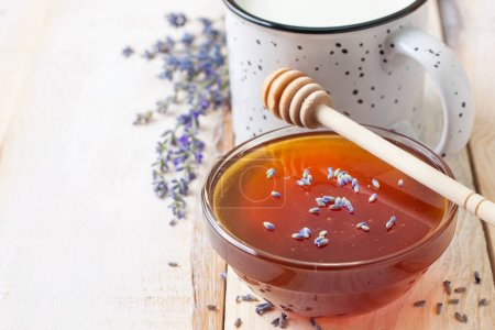 bowl with honey and lavender