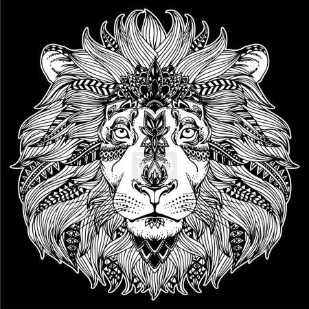 zentangle animal head