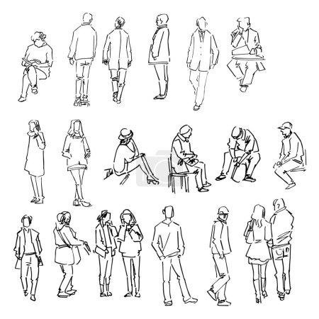 Illustration pour Dessin à la main collection de croquis, vecteur Illustration - image libre de droit
