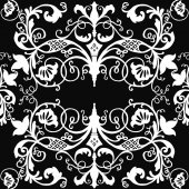 Vector damask baroque seamless pattern background Elegant luxury texture