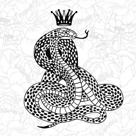 black snake with crown