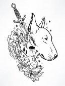 head of Bullterrier mascot