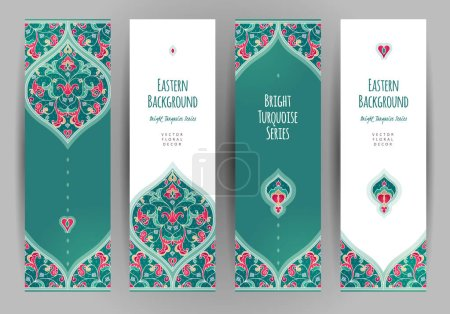Vector illustration design of greeting cards with ...