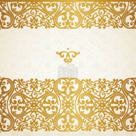golden border in Victorian style