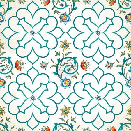 Eastern pattern with floral ornament.